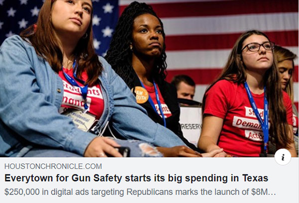 Everytown for Gun Safety starts its big spending in Texas
